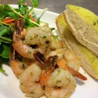 PRAWNS with GARLIC TOAST